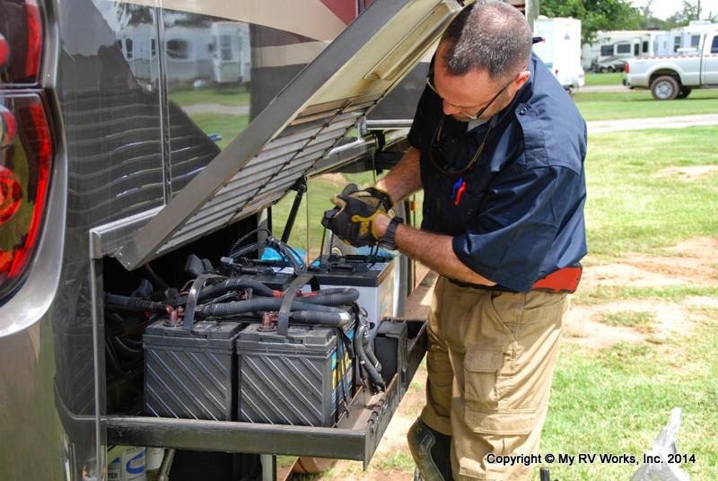 Servicing Motorhome batteries