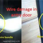RV Entry Door wiring damage and repair