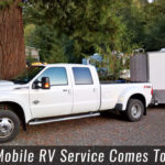 Mobile RV Repair Service Truck and Trailer