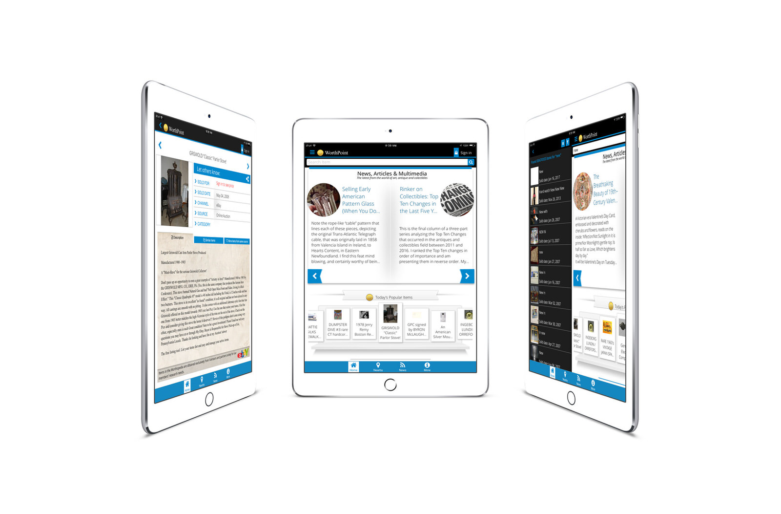 WorthPoint iPad
