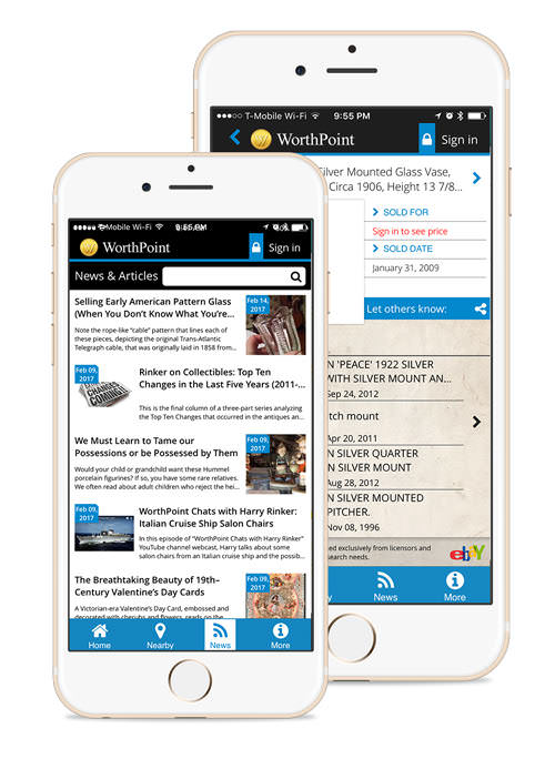 WorthPoint Information On the go