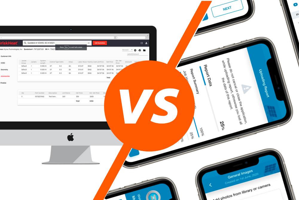 web app vs mobile app development Sunflower Lab