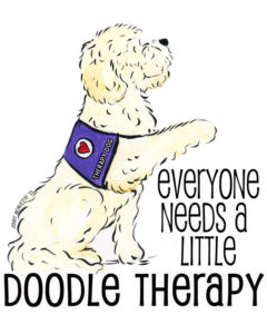 Goldendoodles make great therapy dogs