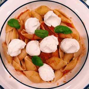 fresh tomato ricotta pasta