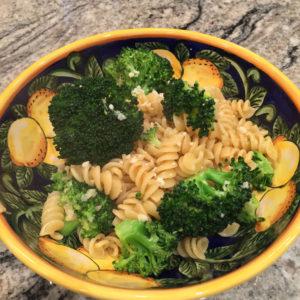 fusilli with garlicky broccoli