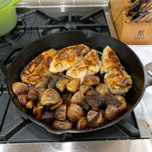one pan lemon chicken and potatoes