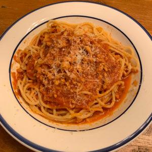 pasta with a quick ragu