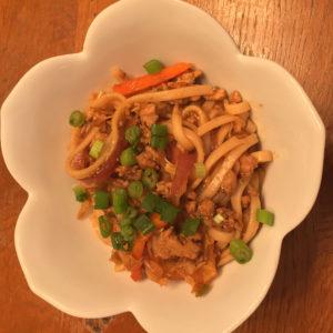 szechuan noodles with sesame chili oil