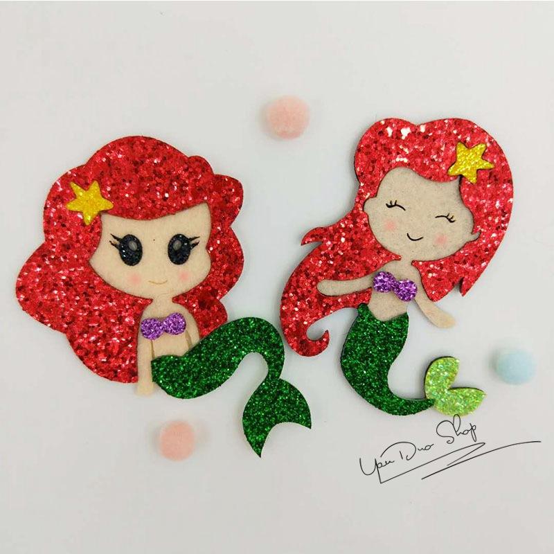 C-500011 韓國進口閃佈公主髮夾女童髮飾品美人魚仙子劉海夾頭