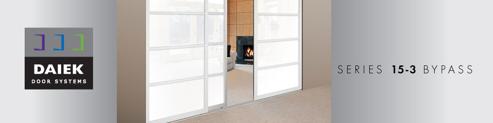 3 panel bypass sliding glass door series 15-3
