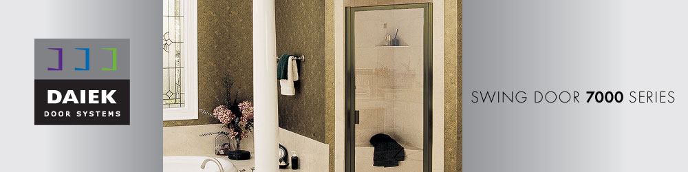 framed glass swing shower door