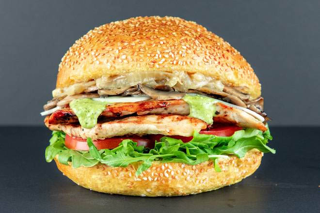 11. Grilled Chicken and Swiss Cheese Burger