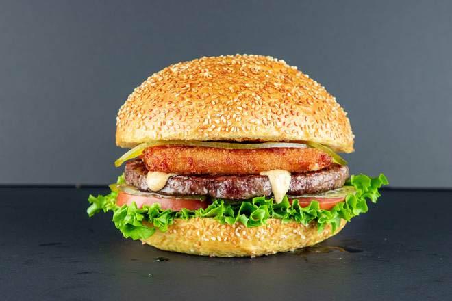 8. Fried Mozzarella Burger