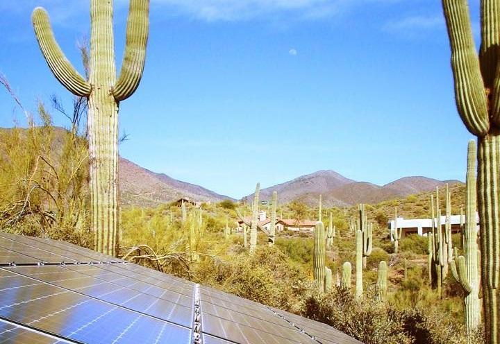 Sonoran Desert Solar Panels
