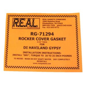 RG-71294 instructions for silicone rubber valve cover gasket