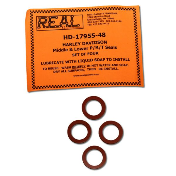 Harley Davidson  Middle /& Lower Push Rod Tube Seals Set of 4 # RG-17955-48