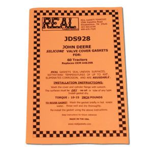 JDS928-2 instructions for silicone rubber valve cover gaskets
