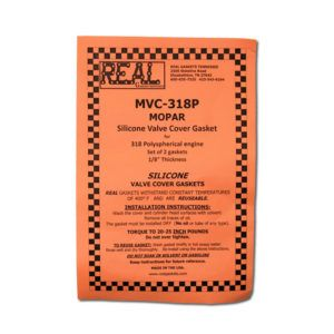 MVC-318Pa label for silicone rubber valve cover gaskets