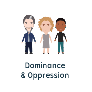 Icon representing dominance and oppression