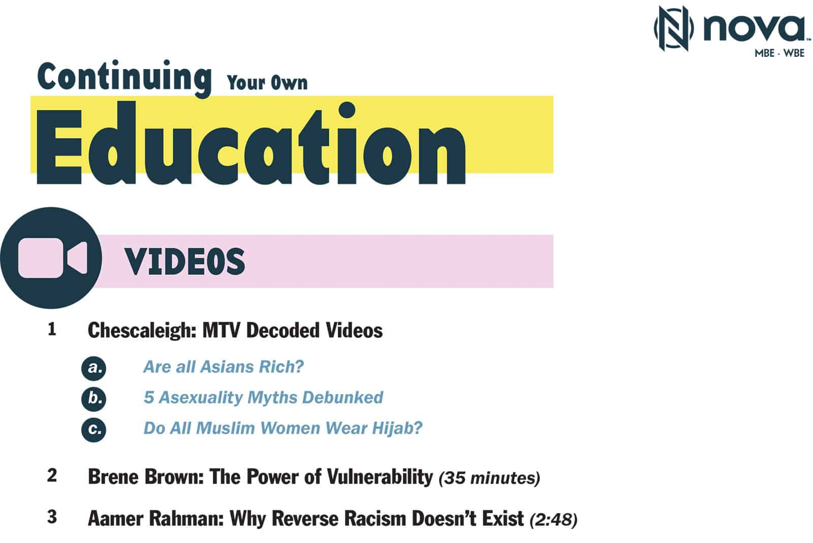 Continuing Your Own Education Nova Collective