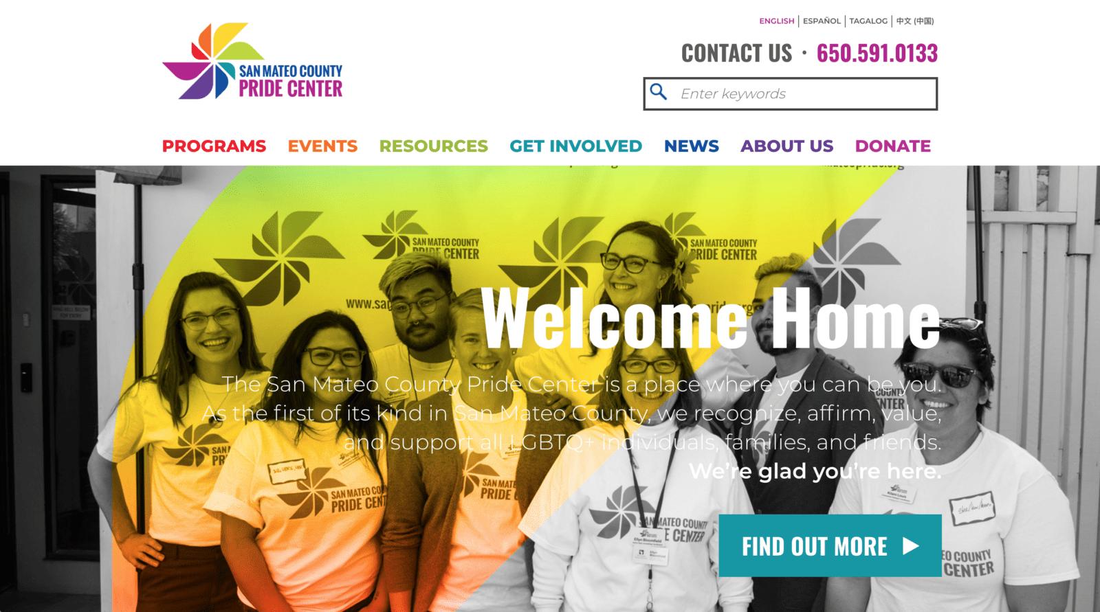 Pride Center Website Launch!