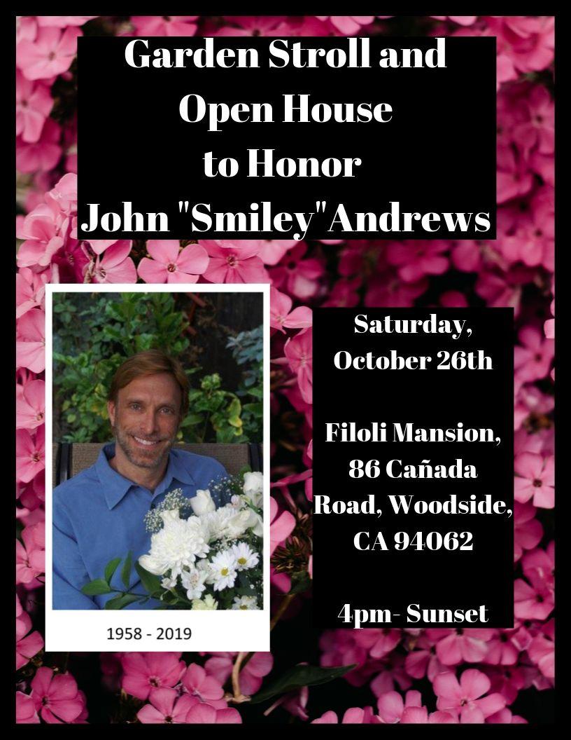 """Garden Stroll for John """"Smiley"""" Andrews"""