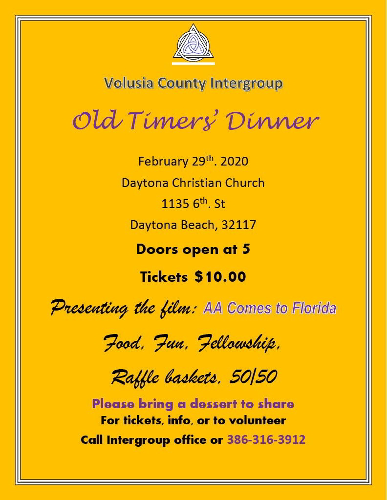 Old Timers Dinner 2020