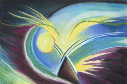 Spirit Bird Intuitive Portrait by Erika Rado Earth Speaks I