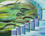 Spirit Bird Intuitive Art by Erika Rado Earth Speaks VI The Way Forward