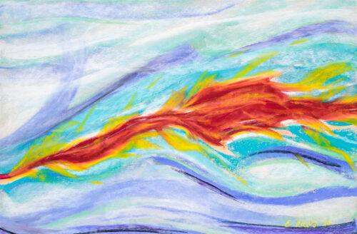 Spirit Bird Intuitive Portrait by Erika Rado Fire in Water