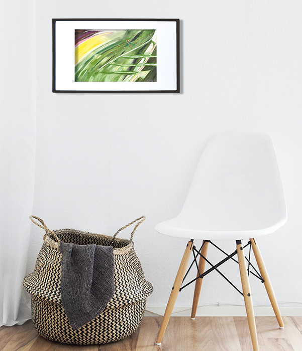 Erika Rado Hanging Pastel Portrait 28