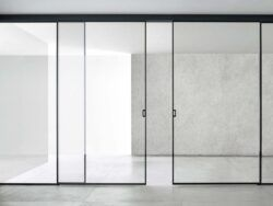 Framed Glass sliding door system V2000