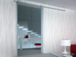 Image showing an installed glass sliding door