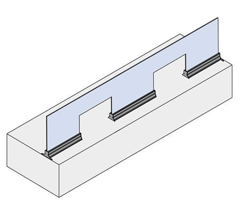 Aluminium extrusion for glass railings