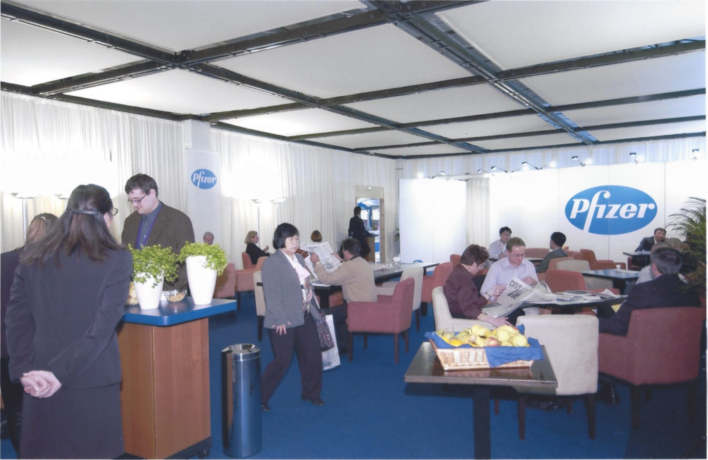 Hospitality Suite for Pfizer ECCO 12 | the European Cancer Conference | September 21 - 25, Copenhagen, Denmark.