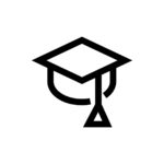Graduation cap line icon. Pixel perfect fully editable vector icon suitable for websites, info graphics and print media.