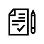 Contract line icon.