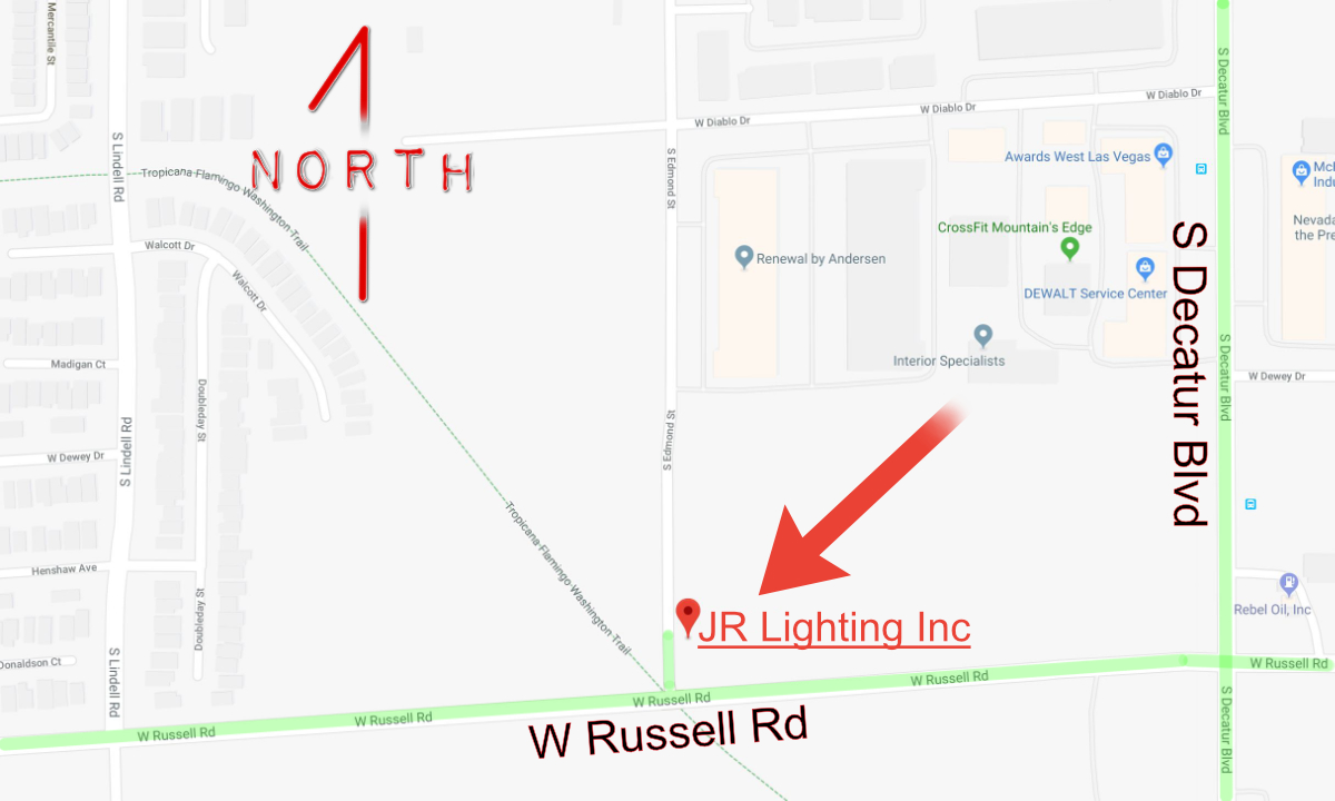 JR Lighting and grip rental company - Map to Lighting and Grip Rentals