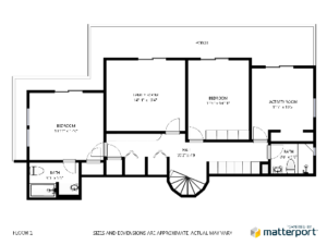 matterport schematic floor plan