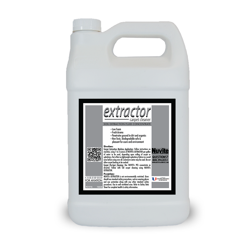 Extractor Concentrated Carpet Cleaner for extraction machines.