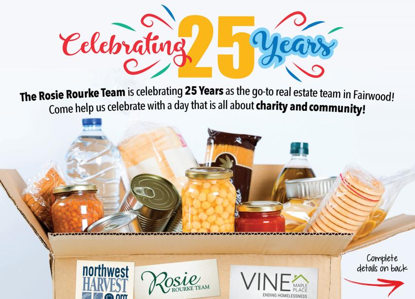 Rosie Rourke Fairwood Food Drive October 24 Northwood Middle School