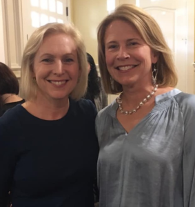 Recently I hosted a meet-and-greet at home for my former college classmate, New York Senator Kirsten Gillibrand!