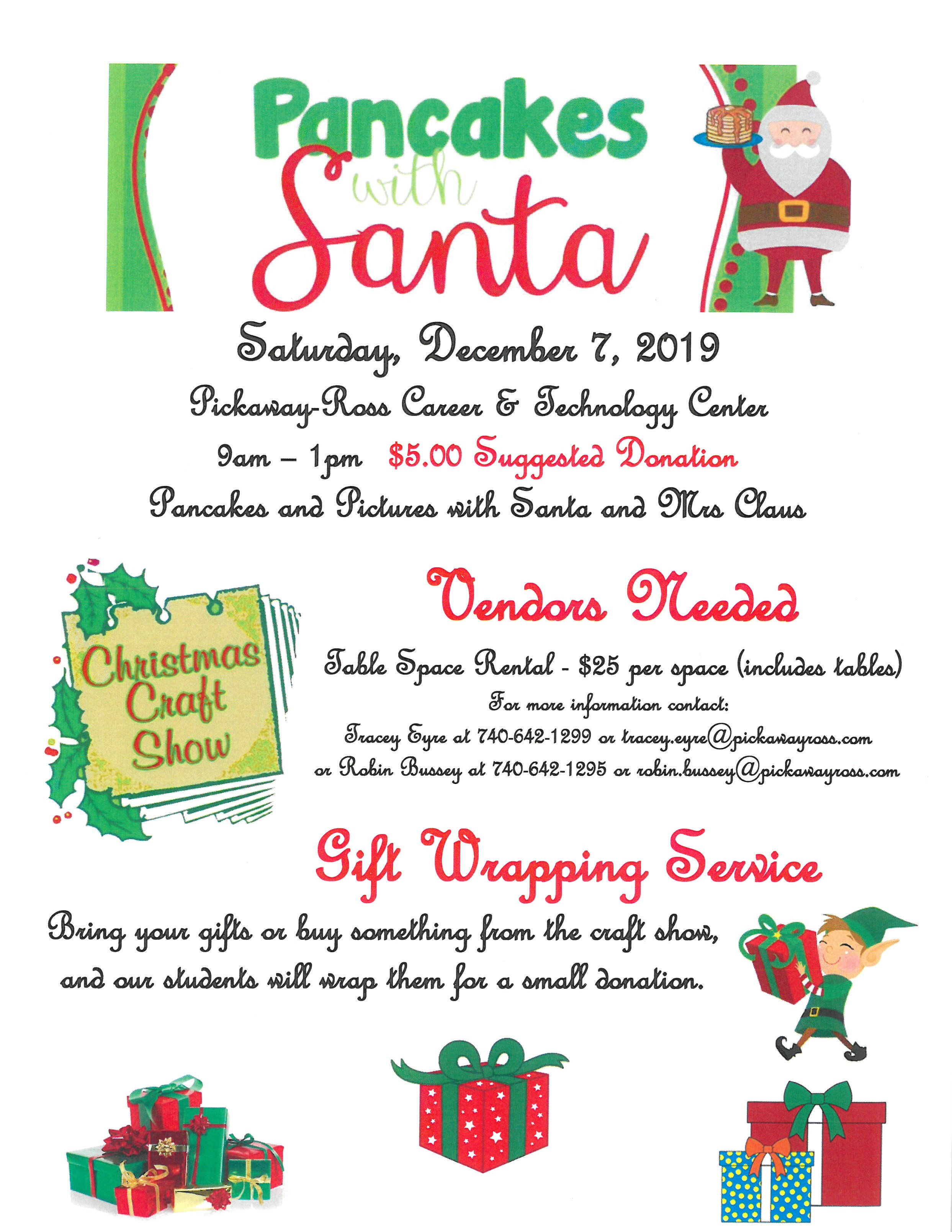 Pancakes with santa & craft show