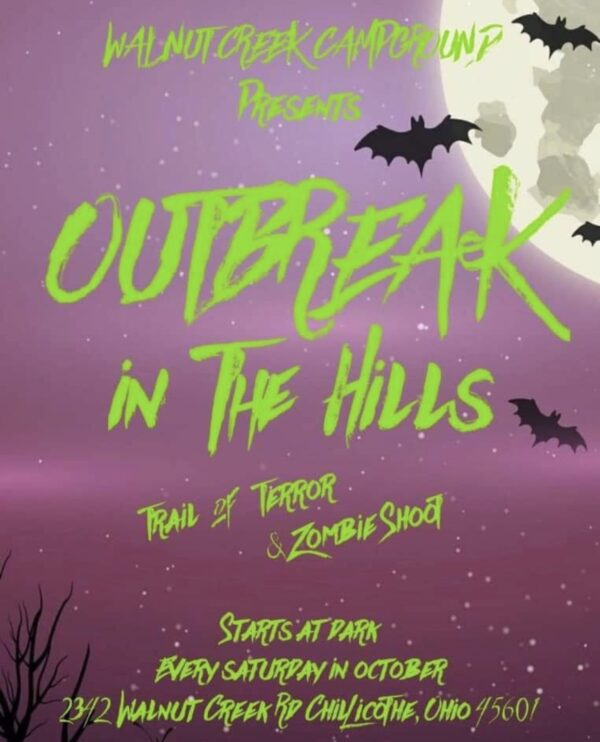 Outbreak in the Hills, trail of terror & zombie shoot