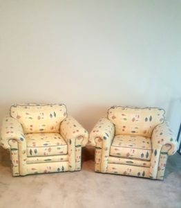 Two chairs from the thrift store