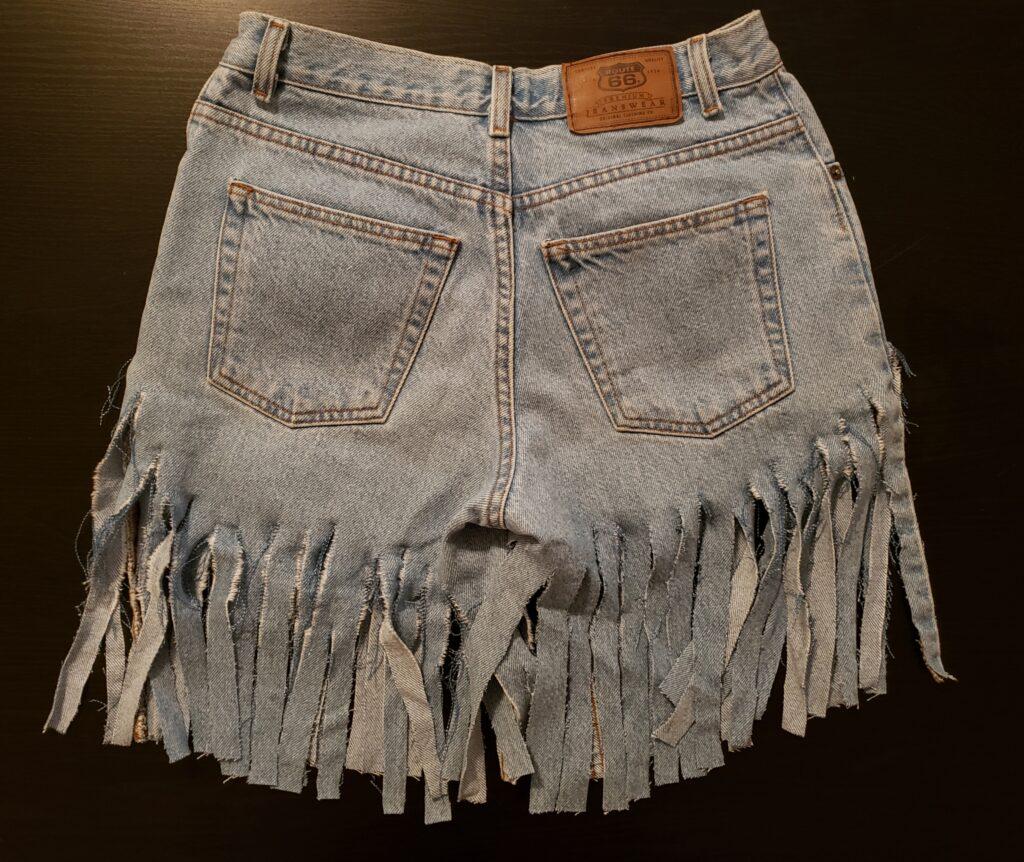 Denim Fringe Shorts