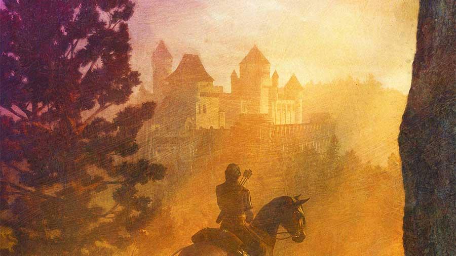 Distant castle