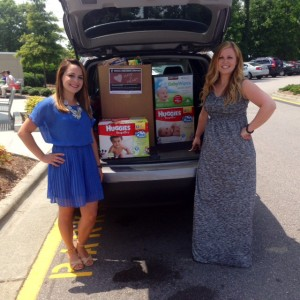 Chelsea LePage and Cara Dempsy (event organizer)