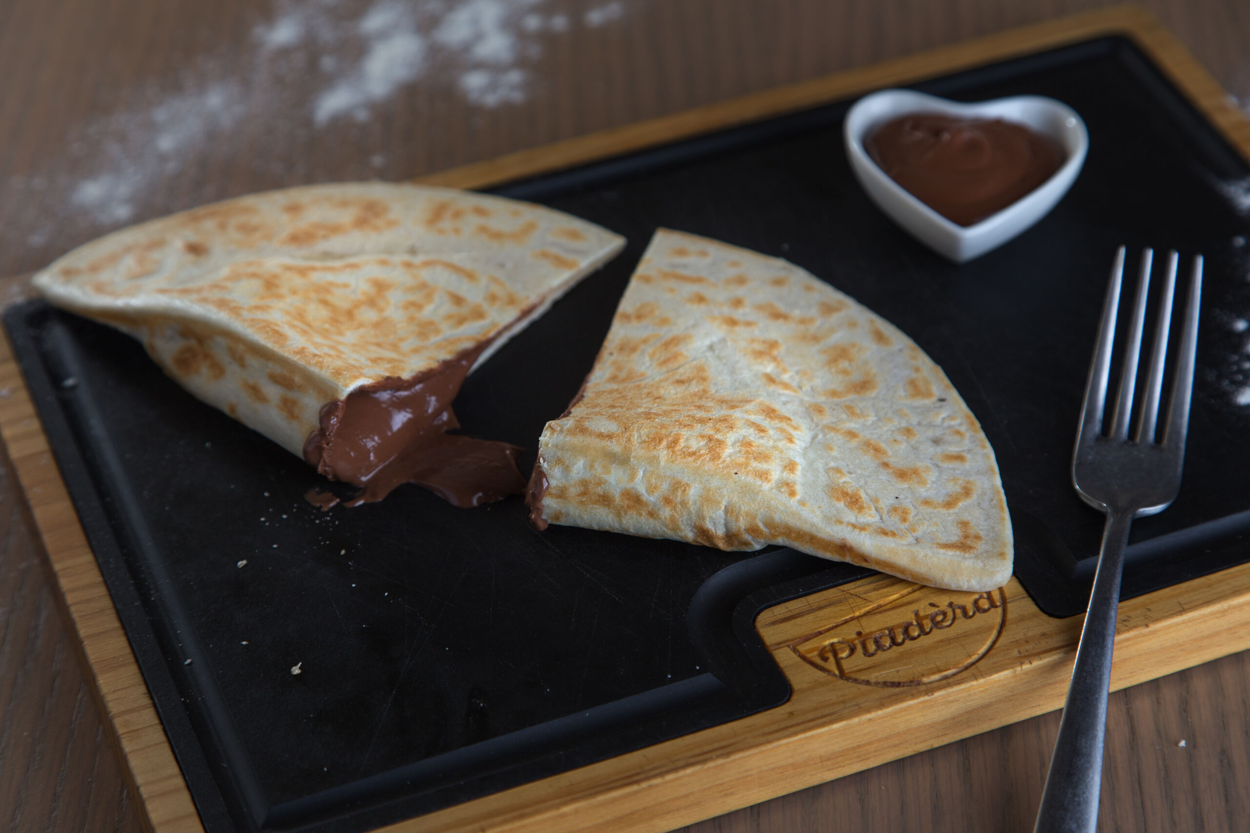 Calzone Nutella open
