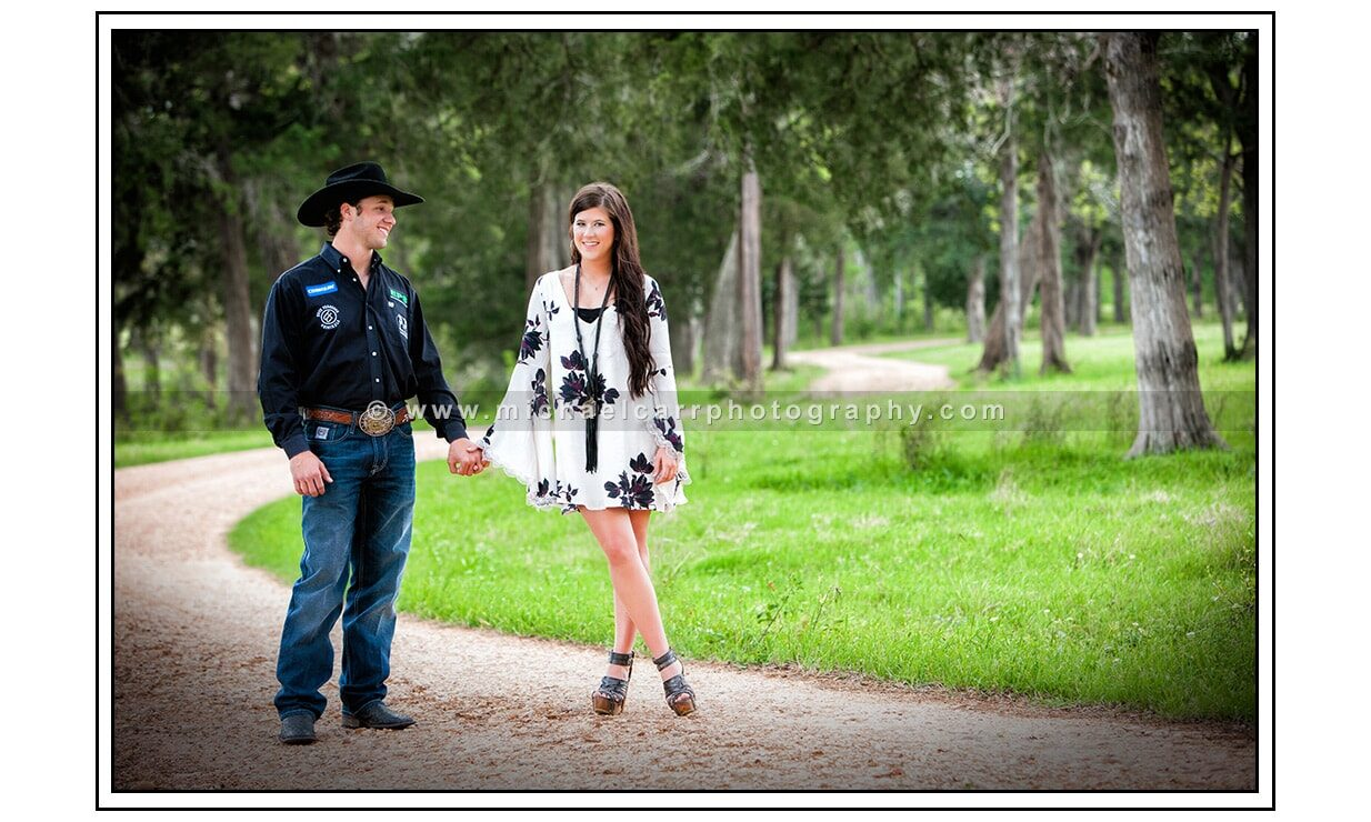Texas Ranch Outdoor Couple Portrait
